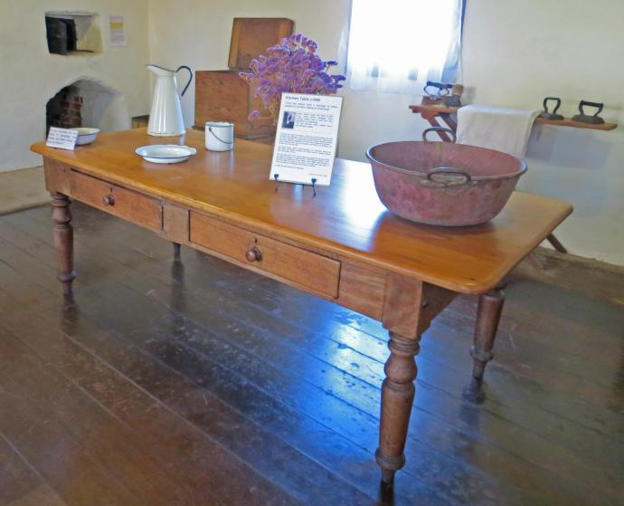 A table with a history