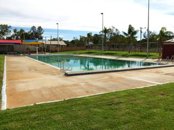 Swimming pool closed till next summer.