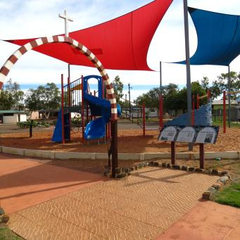 Children's playground, deserted today