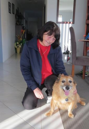 Our Perth Airbnb host, Maureen and Woody