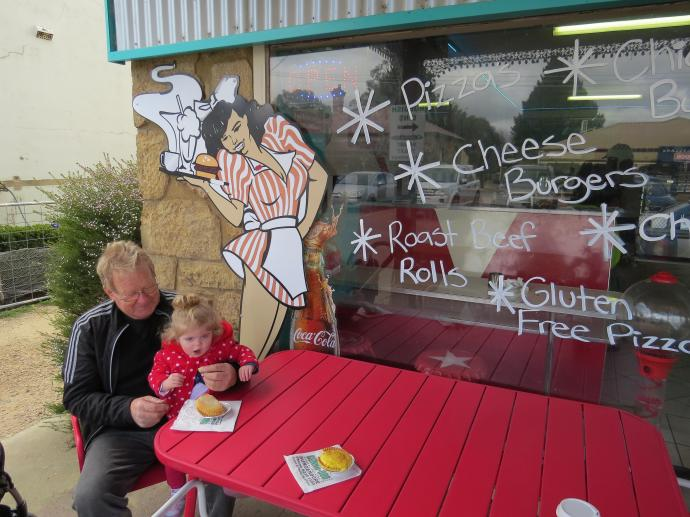 These are seriously delicious pies and Jack talks to, then takes a photo of Grandad and his cute Granddaughter.