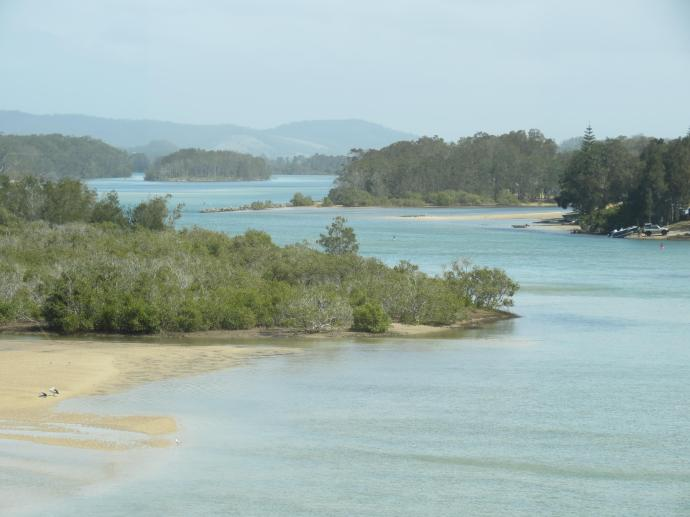 Looking down the Nambucca River