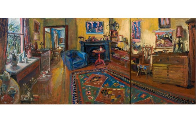 This is the last picture Margaret painted of the yellow room