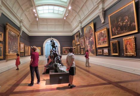 A hall full of classic art