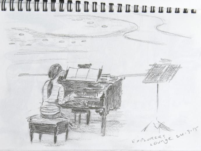 Jack did this drawing of the pianist as I did not take a photo