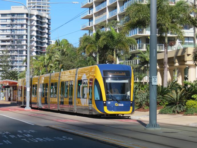 Recently completed and efficient light rail system
