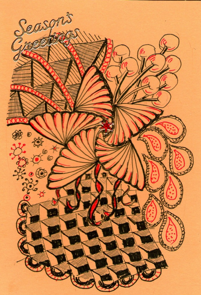 zentangle-xmas-card